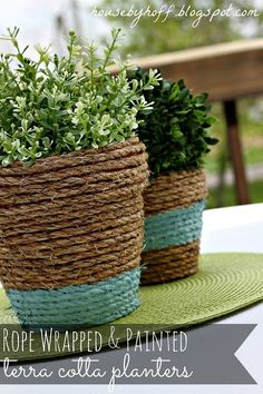 Give your pots a new look! Rope wrap them!