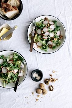 Endive & Radish Salad with Walnuts | Gather & Feast