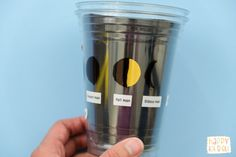 A fun and interactive way to learn about moon phases, using plastic cups! Turn the cup to see the moon change. Learn how to make one here. Moon Activities, Science Activities For Kids, Montessori Activities, Science Lessons, Science Education, Science Projects, Learning Activities, Science Ideas, Physical Education