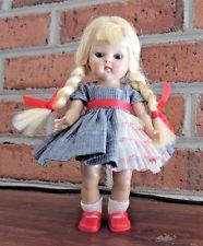 Vintage Vogue Strung Ginny Doll wearing Candy Dandy Dress