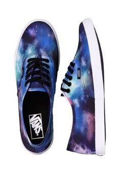 Order Vans - Authentic Lo Pro Cosmic Galaxy Black/True White - Girl Shoes by Vans for at the Impericon UK online shop in great quality. Vans Sneakers, Vans Authentiques, Vans Shoes, Vans Footwear, Adidas Shoes, White Shoes For Girls, Black And White Sneakers, Girls Shoes, Black Shoes