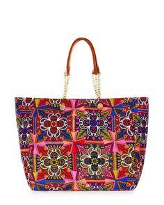 Malibu Creek Print Beach Tote B Small Handbags 53abc49cd