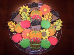 Fall cookies with apples