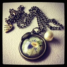Beautiful Resin Blossom necklace by MAYOULEE   Accessories