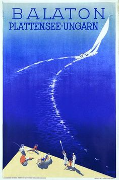 Travel poster 193x, Lake Balaton, Hungary