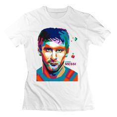 QDYJM Women's Lionel Messi Wpap Barcelona CR7 T-shirt - L White