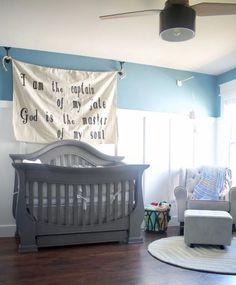 DIY Linen Sign Coastal Nursery, Nursery Neutral, Hanging Closet, Hanging Shelves, Nursery Themes, Nursery Decor, Themed Nursery, Blue Pallets, Carpet Replacement
