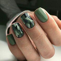 Army print nail art <3