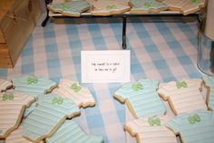 Cookies for onesie themed baby shower