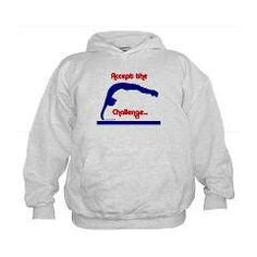 Gymnastics Hoodie - Challenge  Get this and other gifts at www.GymnasticsTees.com #gymnastics #gifts