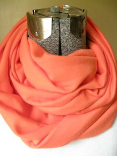 Coral Sweater Knit  Infinity Scarf-  FREE SHIPPING, solid color, scarf,  knit, circle scarf, winter, fall Christmas #handmade #design