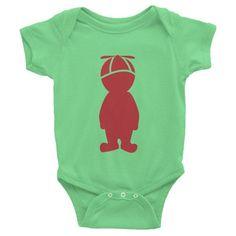 Brick Red Twirler - Infant short sleeve one-piece