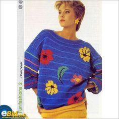 Ladies sweater / jumper knitting pattern for Aran yarn patterns number 24 on eBid United Kingdom