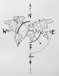 Znalezione obrazy dla zapytania compass tattoo