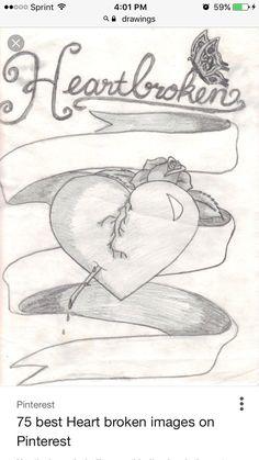 looks like somethingi've drew in the past dibujos Sad Drawings, Pencil Art Drawings, Art Drawings Sketches, Disney Drawings, Cartoon Drawings, Heartbroken Art, Heartbroken Drawings, Broken Heart Drawings, Broken Heart Tattoo
