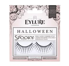Bat your lashes with these Halloween-inspired spider web lashes.Eylure Spooky Halloween eye lashes, $15, at asos.com