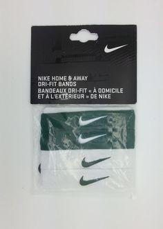 NIKE DRI FIT HOME & AWAY GREEN/WHITE ARM BANDS (OSFM) -- NEW #Nike