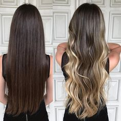 33 trendy ombre hair color ideas of 2019 - Hairstyles Trends Balayage Ombré, Brown Hair Balayage, Brown Blonde Hair, Hair Color Balayage, Brunette Hair, Ombre Hair, Balyage Hair, Ombre Highlights, Gorgeous Hair Color