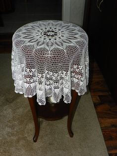 handmade lace table cloth by feltyhome on Etsy