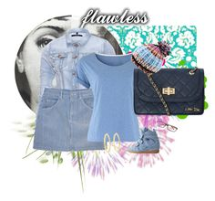 """""""denim"""" by rkdk1101 ❤ liked on Polyvore featuring Mode, J Brand, Industry Of All Nations, People Tree, Dorothy Perkins, Isabel Marant, Marc by Marc Jacobs und Fornasetti"""