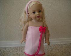 Pink Fleece Bath or Spa Wrap with Matching von MermaidBaby auf Etsy