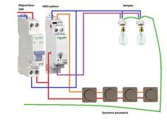 schema de branchement d 39 un contacteur de puissance. Black Bedroom Furniture Sets. Home Design Ideas
