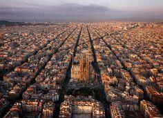 The neatly arranged suburbs around Sagrada Familia, Barcelona - Amos Chapple