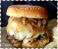 ~French Onion Soup Burger!