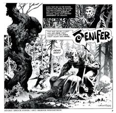 Jenifer The first time I encountered Wrightson, and one of my intros to horror. Comic Book Pages, Comic Page, Comic Book Artists, Comic Book Covers, Comic Books Art, Sketchbook Assignments, Bernie Wrightson, Horror Tale, Fun Illustration