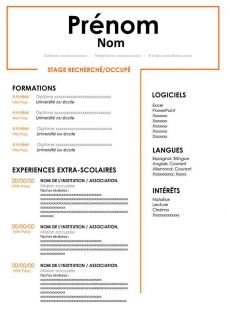 Cv Pour Stage Gratuit A Telecharger Cv Words Resume Words Cv Template Word