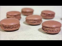 Ingredients: 110 grams powdered sugar 55 grams all-purpose flour 15 grams cocoa powder 2 egg whites from large eggs (room temp) about 65 grams 45 grams sugar. Easy Macaroons Recipe, French Macaroon Recipes, How To Make Macaroons, French Macaroons, Macaron Recipe, Snack Mix Recipes, Gourmet Recipes, Cookie Recipes, Dessert Recipes