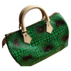 Louis Vuitton Speedy Yayoi Kusama green bag