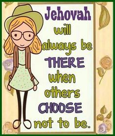 Jehovah is always with us no matter what Spiritual Thoughts, Spiritual Quotes, Spiritual Life, Deep Thoughts, Jw Humor, Spiritual Encouragement, Bible Truth, Jehovah's Witnesses, Heavenly Father
