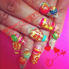 3D n hand painted nail art By Britney TOKYO ☆ ✌ ✿ ✡ ✟ ☺ ✞ TOKYO meets HOLLYWOOD ✞ ☺ ✟ ✡ ✿ ✌ ☆ http://britneytokyo.tumblr.com/