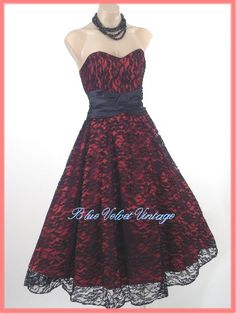 50's Red Party Dress