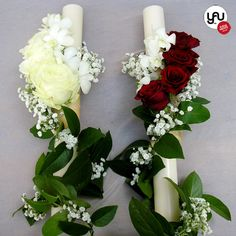 Wedding Bouquets, Wedding Flowers, Church Flowers, Scented Candles, Altar, Red Roses, Tulips, Floral Arrangements, Centerpieces