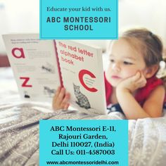 ABC Montessori the fastest growing International preschool in Rajouri Garden Delhi. Admission open for 2018-19 batch. The admission is open from age 2 years till 6 years. Montessori is always better than any traditional preschools/playschools. Contact us Today at 011-4587003. Visit:www.abcmontessoridelhi.com International Preschool, Preschools, Alphabet Book, Fast Growing, 6 Years, Montessori, Age, Traditional, Education