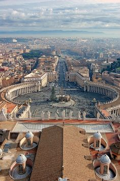 Saint Peter's Square is a massive plaza located directly in front of St. Peter's Basilica in the Vatican City, the papal enclave within Rome...