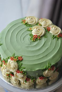 Buttercream cake decoration