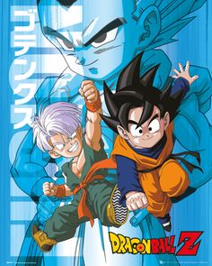 Dragon Ball Z - Trunks and Goten - Official Mini Poster - Visit now for 3D Dragon Ball Z shirts now on sale!