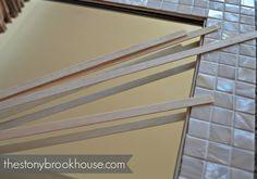 The Stonybrook House: How To Make A Custom Tiled Mirror Diy Mirror Frame Bathroom, Mirror Tiles, Coastal Decor, House, Bath Ideas, Bathroom Designs, Mosaics, Master Bath, Projects