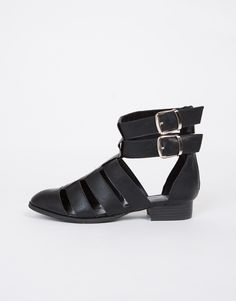 Buckled Cut Out Booties