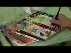 Watercolor Painting Basics : Painting Watercolor Skin Tones - YouTube
