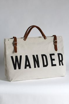 b31c97102fbe WANDER Painted Fox Home, Leather Handle, Leather Bag, Traveling By  Yourself, Wander