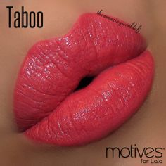 """""""Taboo"""". Motives® for La La Moisture Rich Lipstick. Available at http://us.opc3.com/mabelchan/product/motives-for-la-la-moisture-rich-lipstick/?id=100MLMRL&skuName=taboo&idType=sku"""