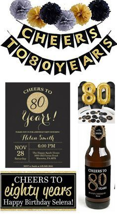 Cheers To 80 Years Party Theme Guide Impressive But Easy Party Plan 80th Birthday Party Favors 80th Birthday Party Decorations 80th Birthday Party