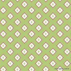 Papel de parede Decoração Geométrico Origini 204-23,Wallpaper, Importado, Lavável, Textura Lisa, Verde, Vermelho e Bege