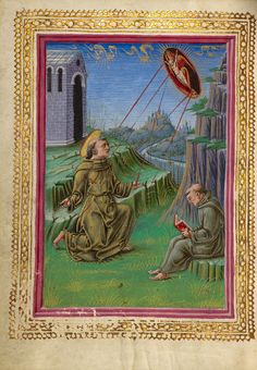 The Stigmatization of Saint Francis by Taddeo Crivelli Circa 1469 Tempera colors, gold paint, gold leaf, and ink on parchment