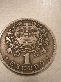 Rare Portuguese coin 1 escudo 1945, 700,000 mintage