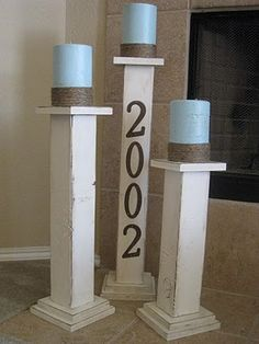 diy wooden pillars